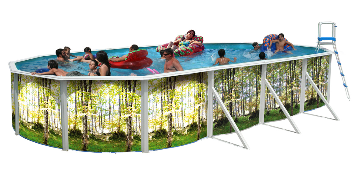 Piscine hors sol bosque ovalada 731 x 366 cm for Piscine hors sol dimension