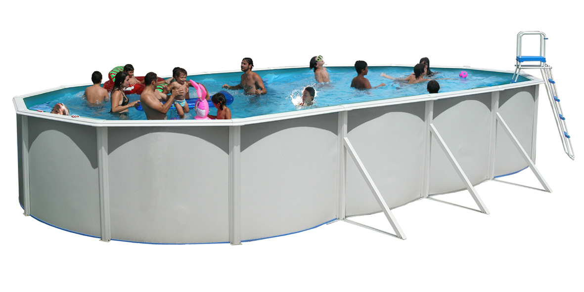 Piscine hors sol serie ovalada 730 x 366 cm x 1 20 m for Piscine hors sol non imposable